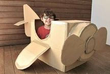 Cardboard | Fun & Fantasy / Whether for the kids or the kid at heart these cardboard creations will give rise to imagination and play! #diy #imnotabox