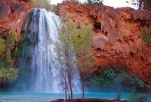 Havasupai (Havasu Falls) / Hike to some of the most amazing waterfalls in the United States with Just Roughin' It Adventure Company.  With our guided backpacking tours, you will see crystal clear water and turquoise pools.  Spend your days exploring, swimming or relaxing on this incredible trip!