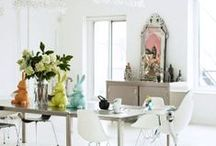 Pasen - Easter / Paasdecoraties in huis, voor de tafel / Easter decorations