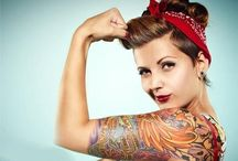 ✿✿Alternative✦Pinups✿✿ / The modern day pin up girl.... Tats and wild hair color. Drop me a line if you want a board invite :) / by Someday Baby