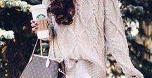 Beiger Strick / Outfits mit Strickpullovern oder Strickjacken in beige