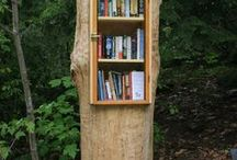 """Little Free Libraries / The mission of the Little Free Library movement is """"to promote literacy and the love of reading by building free book exchanges worldwide and to build a sense of community as we share skills, creativity and wisdom across generations.""""  http://littlefreelibrary.org/ourhistory/"""