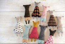 Handmade soft toys. / Cuties! Peluches hechos a mano. ¡Qué cositas!