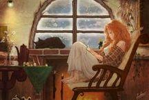 Устроившись уютно с книгой