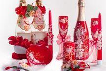 Комплекты атрибутов и аксессуаров. / Комплекты свадебных атрибутов и аксессуаров в едином стиле и цветовой гамме. Представляем комплекты готовые и на заказ. Возможно выполнение  в любой комплектации, цвете и с различным декором по Вашему желанию.