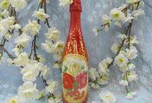 Бутылки для праздника и подарка. / .