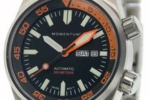 Watches / Momentum Watches, formerly St. Moritz, specialize in durable, high quality, sport, diving, and travel watches. With sapphire crystals and scratch resistant faces and high-grade titanium and stainless steel, Momentum Watches are built to perform flawlessly in all activities.