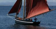 Wind Ships / sailing, sail boats, tall ships, merchant ships, clippers, yachts, yawl, ketch, schooner, sloop, fishing vessels (with sails), the ocean, the wind, rigging and all types of sails