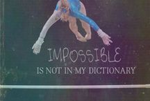 Gymnastics quotes / Never give up