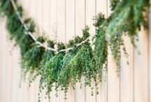 Eco deco / Ecological decoration for weddings and other events.