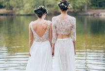 Eco dresses / Ecological wedding dresses for the sustainable brides.