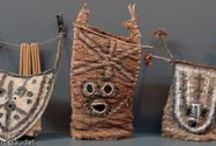 Lomwe bark cloth masks