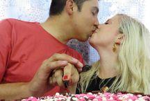 Decor - Anniversary (decoração festa de aniversário de casamento aline&renato) / Veja mais em: http://blahblog.com.br/uma-decoracao-simples-e-linda-pra-sua-comemoracao