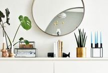 Home Decor Love / Cool spaces with bright colors, and pretty interior decor picks and products