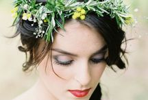 Eco flower crowns / All the love wild flower and other ecological flower crowns for the lovely brides.