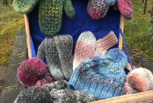 Knitted hats beanies for women