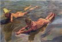 Painting: Joaquin Sorolla y Bastida / Master of color, light, water and spontaneity.
