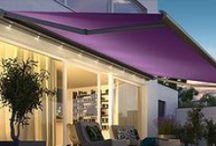 Zonweringen, knikarmschermen, terrasschermen uitvalschermen / Buitenzonwering