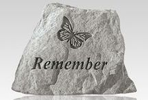 Pet Cemetery and Gravestone / Pet Memorials and Pet Cemetery Memorials, also known as pet memorial rocks, are great monuments to your pet's memory. These finely crafted pieces are made to look exactly like natural rocks to that they can fit perfectly into the landscaping of your pet's favorite spot in any yard. All of our pet memorial rocks include a bronze plaque beautifully engraved with the words befitting your special memories.