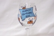Personalised Birthday Wine Glasses, Mugs & Gifts / Personalised and hand painted wine glasses, beer glasses, champagne flutes, mugs, and plates for any Birthday celebration.  Personalie with a name, special message and colours.  Custom orders are also welcome!