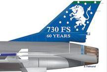 Tail art. F-16 Fighting Falcon Royal Danish Airforce.  / F-16 from the Royal Danish Airforce . 727 Sqn. -  730 Sqn  and former 726 Sqn + 723 Sqn