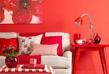 Interiors: Red Hot / Fiery and fabulous, there's no doubt that adding red accents to your home will really help to spice up your decor and let that little wild streak shine through!