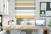 Blinds: Sophisticated Stripes / From bright, bold stripes to thin and sophisticated bands, this board is dedicated to all our striped blinds.