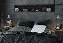 Interiors: Brilliant Black / Make a moody and minimalist statement in your home by decorating with bold black shades.