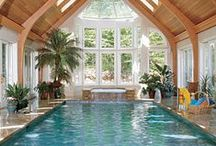 If Only: Indoor Pool / Have you ever daydreamed about having a swimming pool in your home? This board is right up your street, we've found some of our favourite indoor pools and shared them with you!