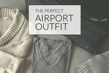 Airport Style - What to wear when travelling / What to wear when travelling - Style inspiration from celebrities. What to wear at the airport.