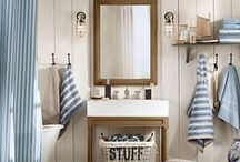 Bathroom Bliss: Nautical Style / Inspiration for your nautical themed bathroom to help create the ideal home.