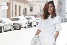 All White during Summer / Wearing all white in the summer can be tricky to pull off, our latest board shows you some styling ideas on how you can wear a classic white t-shirt with white jeans.