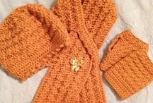 Crochet Adult  Winter Warmers / Scarfs,Ear warmers,Leg warmers,Mittens,Hats,Etc. / by Lynn Courtois