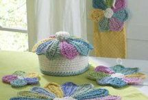 Crocheted Kitchen Items / A lot of crochet items. Dishcloths,potholders,etc.