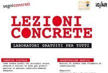 #LezioniConcrete / Lezioni gratuite per tutti. Grafica, montaggio, fotografia, musica, ecc...