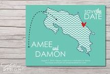 Destination Wedding Paper Designs / Stationary / Place cards / Escort Cards / Menus