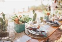 Inspiration: Tropical Tablescapes / Destination wedding tropical table scapes by Four Winds and other stylish folks