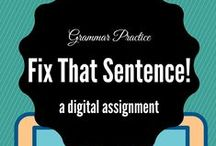 Grammar / This board includes free, interactive digital assignments related to grammar.