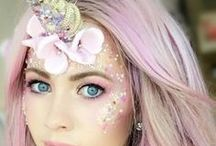 Unicorn makeup / Need we say more! Unicorn obsessed and always trying out new looks. #unicornlove