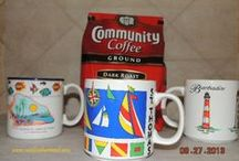 Favorite Coffee Mugs / Mugs from my cruise travels. Nothing like a great cup of coffee sipped from my favorite mugs.