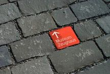 SIGNAGE & WAYFINDING / graphic design, 3D objects, icons, wayfinding systems / by Marianne Riegelnegg
