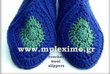 my crochet: slippers / for women and men