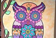 °‿•✿ Folk art / Collezione di meravigliosi quadri folk art, come quelli meravigliosi di Karla Gerard...