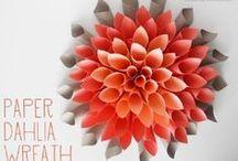 °‿•✿ Crafts fiori, piante, foglie... / Lavoretti con soggetto fiori, piante, alberi...il mondo vegetale!
