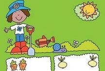 °‿•✿ Progetto orto / Qui trovate alcune idee per realizzare un orto con i bambini e attività correlate.