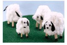 °‿•✿ Crafts: animali / Idee per realizzare animali con materiale semplice.