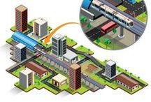 Isometric illustrations and Graphics / Vector Isometric illustrations.