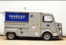 Thai VanDuke / From the creators of Busaba Eathai and Naamyaa Cafe, ThaiVanduke is named after a wise monk in Thailand.  This 1976 Citroen H Van can been spotted zipping around  London and beyond serving authentic Thai classics and  eclectic street foods of Asia.