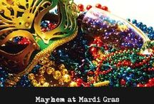Mayhem at Mardi Gras Murder Mystery Party / The Lord of Misrule and Lady Mayhem of the exclusive secret society,  Mayhem Krewe of Misrule, are hosting their annual spectacular Mardi Gras Ball!   Attendance at this lavish ball of mayhem and misrule is by invitation only and you have received an exclusive invite!   The party festivities will include the unveiling of the identities of Lord of Misrule and Lady Mayhem, along with a very special guest appearance by The King of Carnival, Rex.