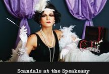 The Scandals at the Speakeasy / The years of the prohibition era are so dry and dull! Fortunately, you have been invited to the Grand Opening party at Lucky's, the newest local speakeasy. You will be able to add some excitement to your night because with gangsters, politicians, molls, and dolls this event is guaranteed to be the bee's knees of the community!